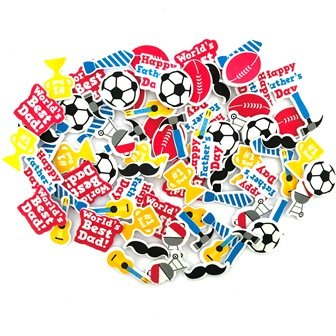 FOAM STICKERS FATHER'S DAY 80 PC - Click for more info