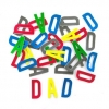 FOAM STICKERS DAD LETTERS 30 PC - Click for more info