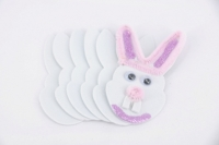 FOAM SHAPES RABBITS WHITE 50 PC - Click for more info