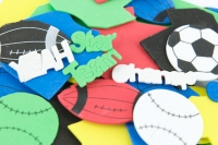 FOAM SHAPES SPORT PRINTED 122 PC - Click for more info