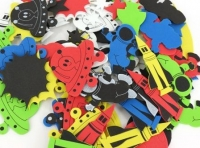 FOAM SHAPES SPACE PRINTED 99 PC - Click for more info