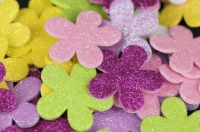 FOAM STICKERS FLOWERS GLITTER 60 PC - Click for more info