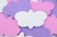 FOAM SHAPES BUTTERFLIES MULTI (PINK/PURPLE/WHITE) 50 PC/PKT* - Click for more info