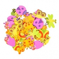 FOAM SHAPES BUGS PRINTED 160 PC - Click for more info
