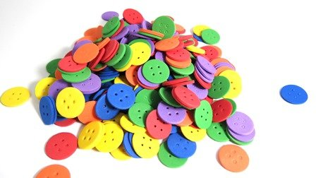 LITTLE FOAM BUTTONS W/ADH 306 PC ^ - Click for more info