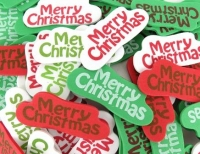 FOAM STICKERS MERRY XMAS 80 PC - Click for more info