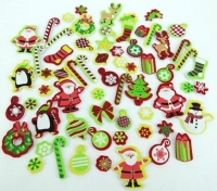 FOAM STICKERS XMAS 92 PC - Click for more info