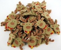 FOAM STICKERS REINDEER FACE 100 PC - Click for more info