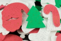 FOAM SHAPES XMAS GLITTER ASSTD 100 GM* - Click for more info