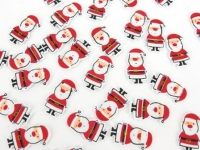 FOAM STICKERS SANTA PRINTED 30mm 75 PC - Click for more info