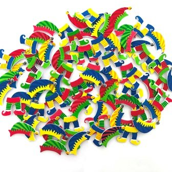 FOAM STICKERS CHRISTMAS ELF 92 PC - Click for more info