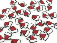 FOAM STICKERS SANTA HAT GLITTER 64 PC - Click for more info