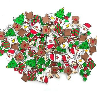 FOAM STICKERS CHRISTMAS TRADITIONAL 87 PC - Click for more info