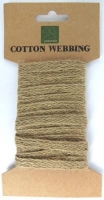 COTTON WEBBING NATURAL 10mm X 2m # - Click for more info