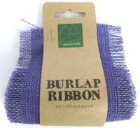 BURLAP RIBBON 9.5cm x 1m LAVENDER 1 ROLL * - Click for more info