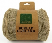 BURLAP GARLAND NATURAL 14.4CM X 10M # - Click for more info