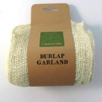 BURLAP GARLAND 5M BLEACHED 1PC # - Click for more info
