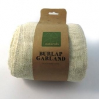 BURLAP GARLAND BLEACHED 10 M 1 PC # - Click for more info