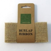 BURLAP RIBBON 5 CM X 1M NATURAL 1 ROLL (NARROW) # - Click for more info