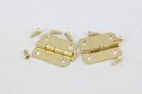 HINGE BRASS #6 GOLD 2 PC # - Click for more info