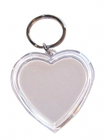 KEY TAG HEART CLEAR 50mm 10 PC - Click for more info