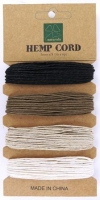 HEMP CORD MIX #1 - 1MM X 40 YDS/CARD # - Click for more info