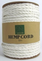 HEMP CORD TWISTED WHITE 50M # - Click for more info