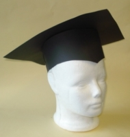 HAT PAPER GRADUATION BLACK W/O TASSEL - MAKES 20 - Click for more info