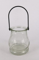 GLASS LANTERN W/WIRE HANDLE 6 PC - Click for more info