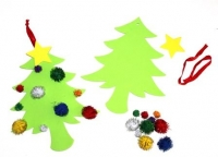 XMAS POM POM TREE KIT - MAKES 10 - Click for more info