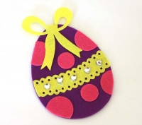 FELT EASTER EGG KIT - MAKES 10 - Click for more info