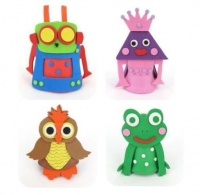 FOAM KIT ASSORTED POT FINGER CHARACTERS 10SETS/PK* - Click for more info