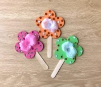 FABRIC FLOWER STICK KIT (MAKES 20) - Click for more info