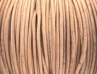 LEATHER ROUND NATURAL 0.9mm X 2m # - Click for more info