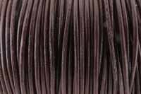 LEATHER ROUND DARK BROWN 2mm X 2m H/S # - Click for more info