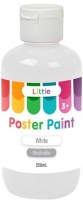 LITTLE EASY WASHABLE POSTER PAINT WHITE 250mL - Click for more info