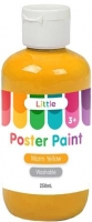 LITTLE 250ML EASY WASHABLE POSTER PAINT WARM YELLOW - Click for more info