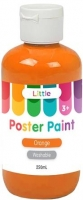 LITTLE 250ML EASY WASHABLE POSTER PAINT ORANGE - Click for more info