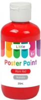 LITTLE 250ML EASY WASHABLE POSTER PAINT WARM RED - Click for more info