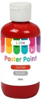 LITTLE 250ML EASY WASHABLE POSTER PAINT COOL RED - Click for more info