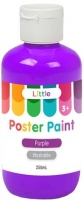 LITTLE EASY WASHABLE POSTER PAINT PURPLE 250mL - Click for more info