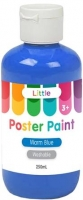 LITTLE EASY WASHABLE POSTER PAINT WARM BLUE 250mL - Click for more info