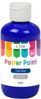 LITTLE EASY WASHABLE POSTER PAINT COOL BLUE 250mL - Click for more info