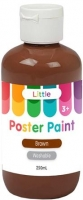 LITTLE 250ML EASY WASHABLE POSTER PAINT BROWN - Click for more info