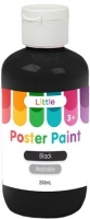 LITTLE EASY WASHABLE POSTER PAINT BLACK 250mL - Click for more info