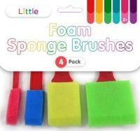 LITTLE FOAM SPONGE BRUSHES 4 PC - Click for more info