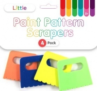 LITTLE PAINT PATTERN SCRAPERS 4 PC - Click for more info
