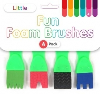 LITTLE FUN FOAM BRUSHES 4 PC - Click for more info