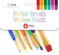 LITTLE PAINT BRUSH VALUE PACK 6 PC - Click for more info