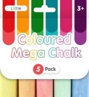 LITTLE COLOURED MEGA CHALK 5 PC - Click for more info